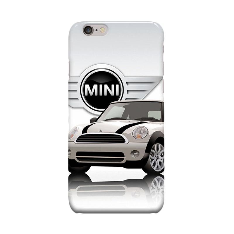 Indocustomcase Mini White Cooper Cover Casing for Apple iPhone 6 Plus or 6S Plus