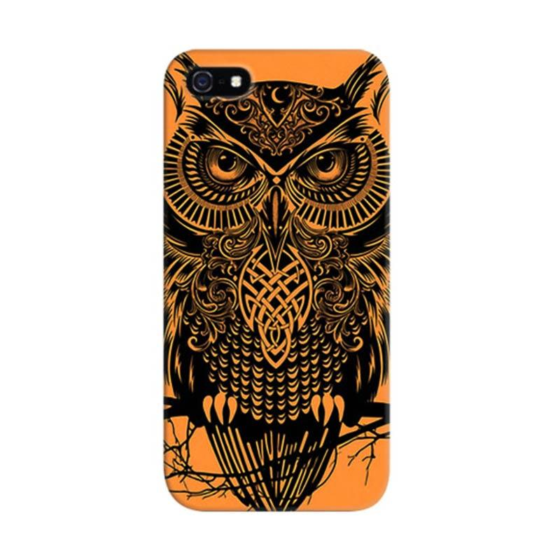Indocustomcase Tribbal Warrior Owl Custom Hardcase Casing for Apple iPhone 5/5S/SE