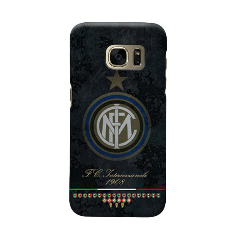 Indocustomcase FC Internazionale Milan IM05 Cover Casing for Samsung Galaxy S6