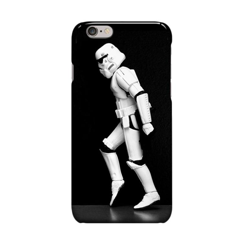 Indocustomcase Stormtrooper Dancing Cover Casing for iPhone 6 Plus or 6S Plus
