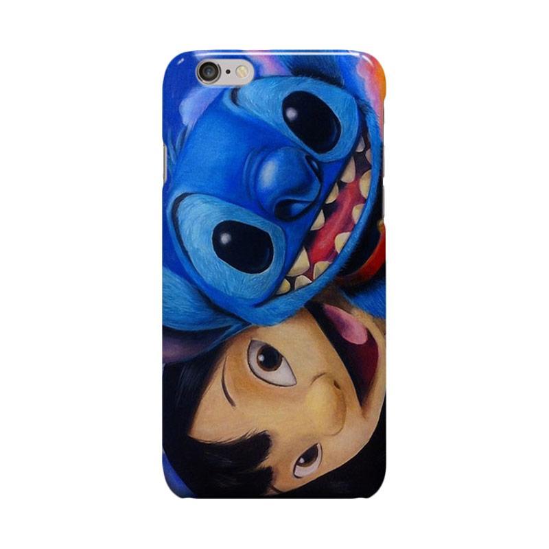 Indocustomcase Cartoon Lilo And Stitch Casing for Apple iPhone 6 Plus or 6S Plus