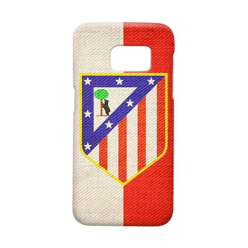 Indocustomcase Atletico Madrid Vintage Cover Casing for Samsung Galaxy S7 Edge