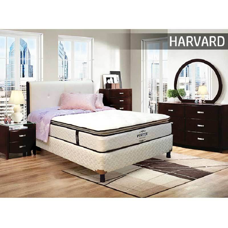 Porter Harvard Semi Pillow Top Pocketed Spring Mattress Only Spring Bed Hanya Kasur