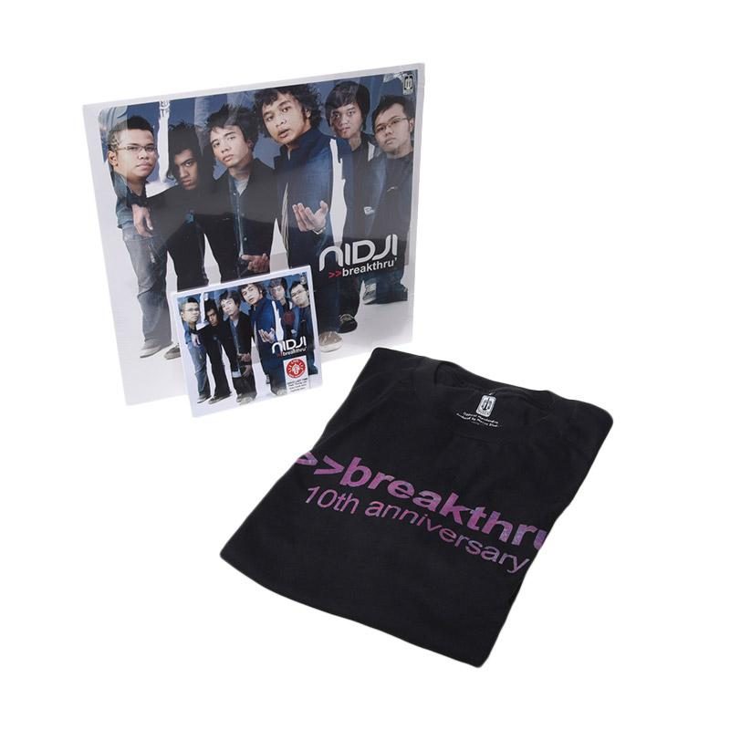 Musica Studio Nidji Breakthru Signed Edition Paket Bundling [Vinyl/ CD/ T-shirt]