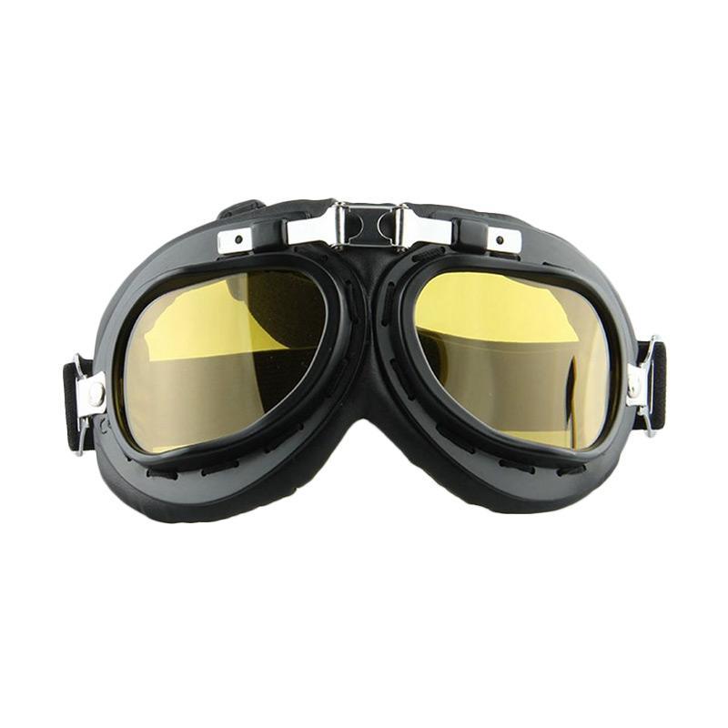 harga Raja Motor Retro Pilot Kacamata - Kuning List Hitam [KMT9006-Kuning] Blibli.com