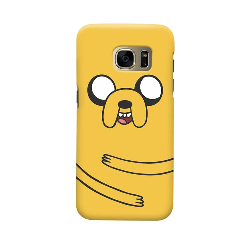 Indocustomcase Cartoon Jake Adventure Cover Casing for Samsung Galaxy S6 Edge