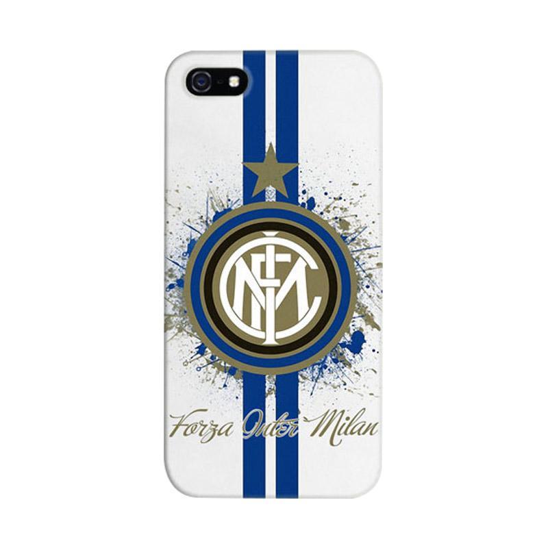 Indocustomcase Forza Inter Milan FC Blue Logo Cover Hardcase Casing for iPhone 5/5S/SE