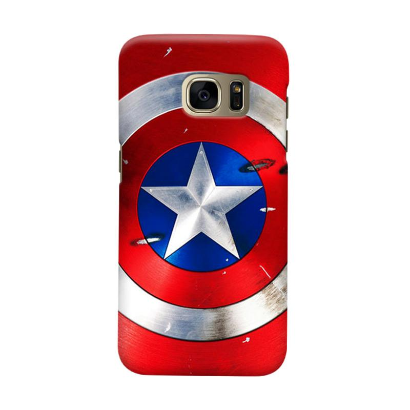 Indocustomcase Captain America Shield CAS01 Cover Casing for Samsung Galaxy S6 Edge