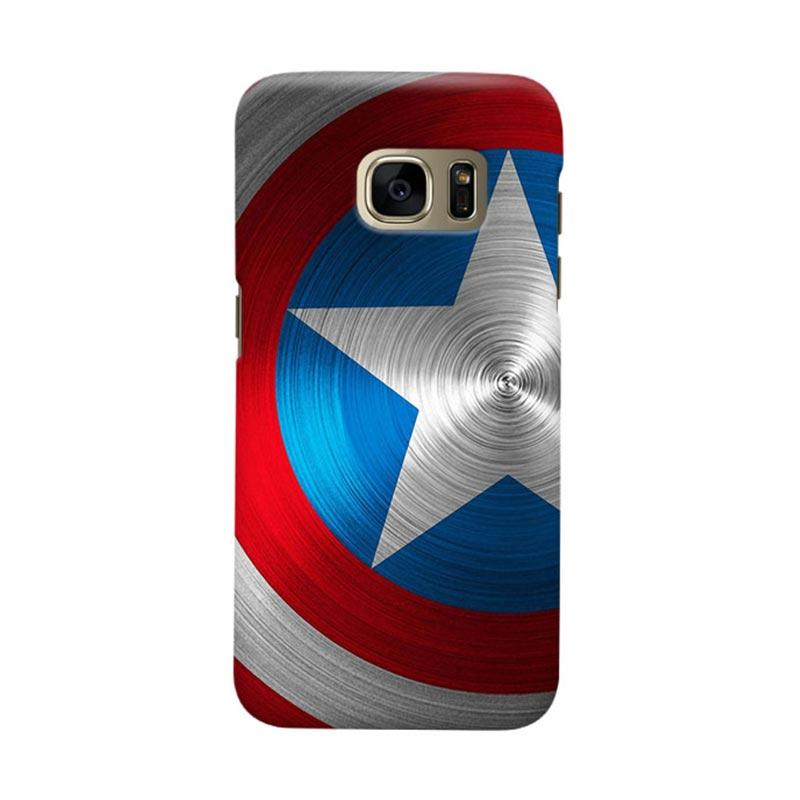 Indocustomcase Captain America Shield CAS02 Cover Casing for Samsung Galaxy S6 Edge