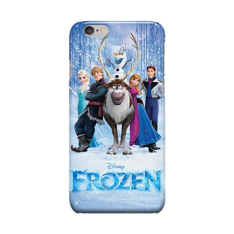 Indocustomcase Cartoon Disney Frozen Cover Casing for Apple iPhone 6 Plus or iPhone 6S Plus