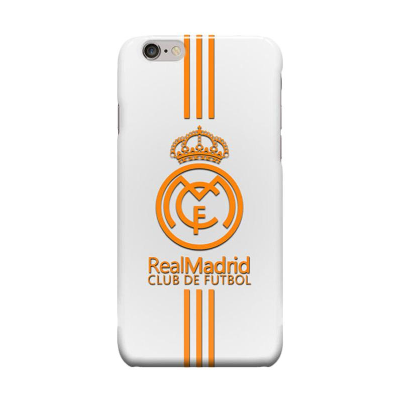Indocustomcase Real Madrid Logo RMA03 Cover Casing for Apple iPhone 6 Plus or 6S Plus