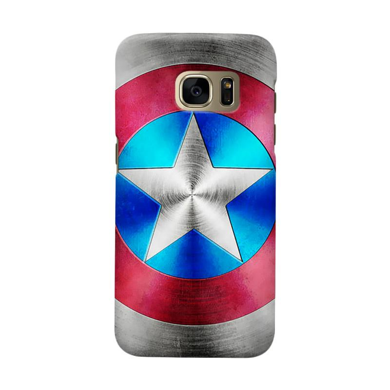 Indocustomcase Captain America Shield CAS03 Cover Casing for Samsung Galaxy S6 Edge