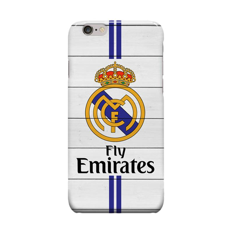 Indocustomcase Real Madrid Logo RMA04 Cover Casing for Apple iPhone 6 Plus or 6S Plus
