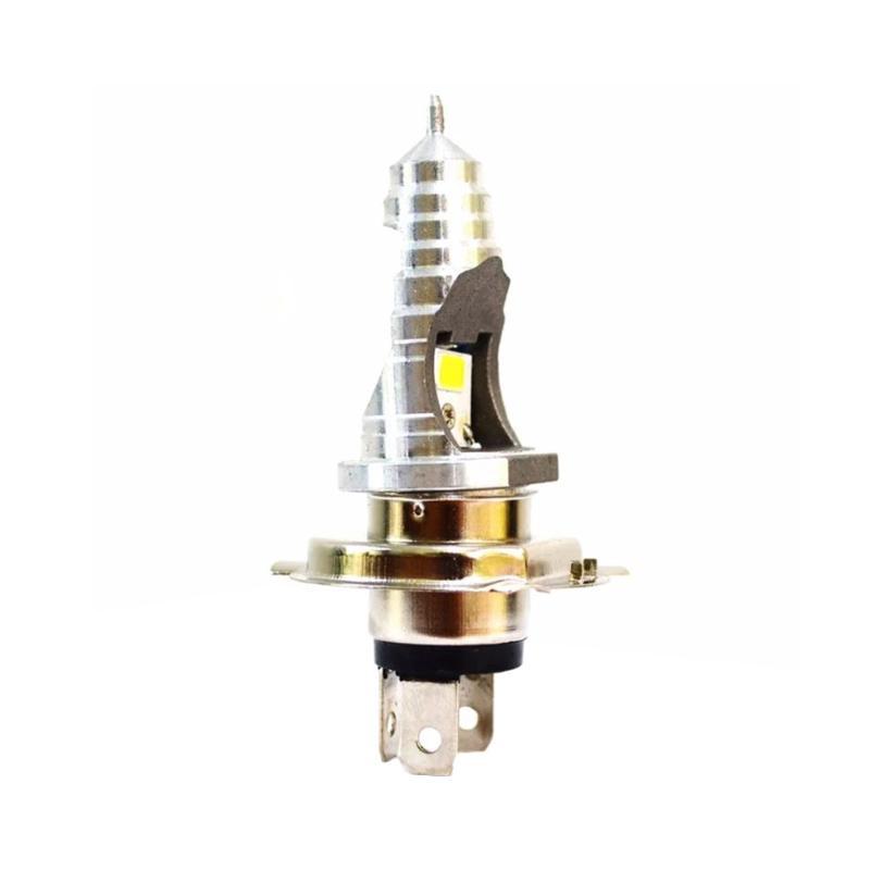 Raja Motor ONS Lampu Depan Halogen H4 12V 35W LED Model Pagoda Runcing- Super White [DOH9043-Putih]