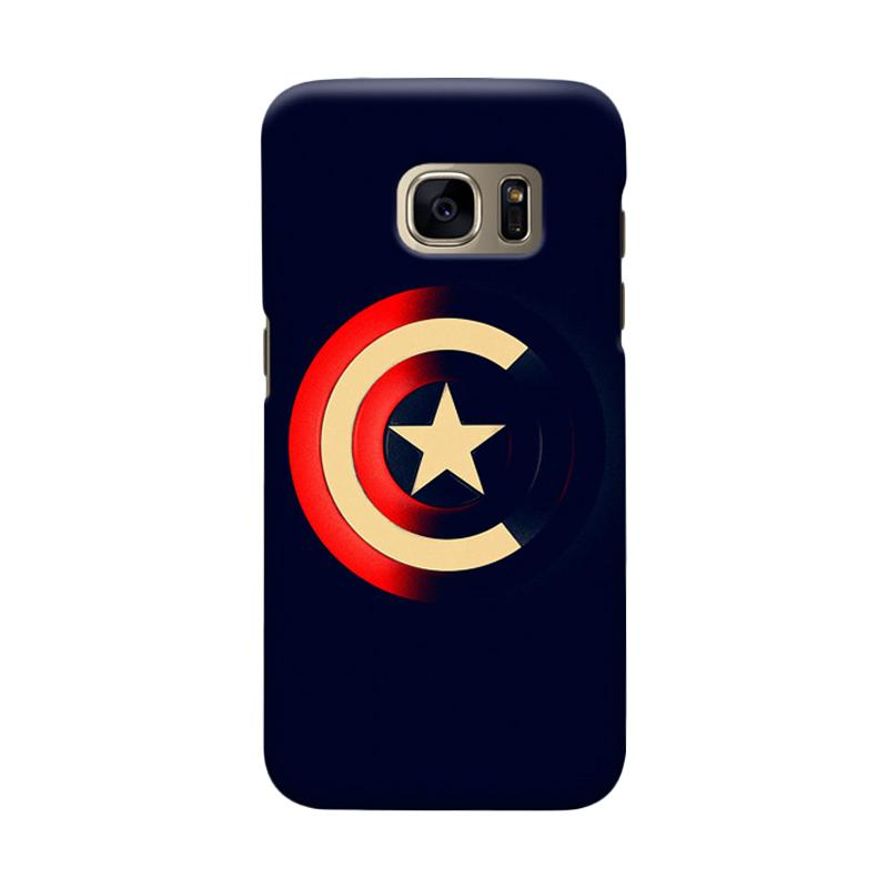 Indocustomcase Captain America Shield CAS04 Cover Casing for Samsung Galaxy S6 Edge