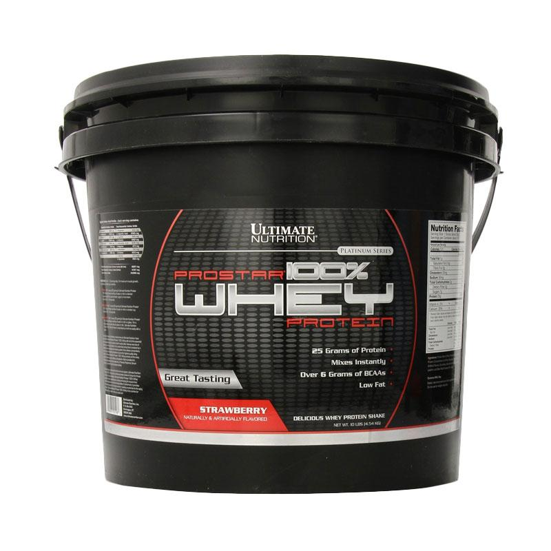 Ultimate Nutrition Prostar 100% Whey Protein Strawberry Suplemen [10 lbs]