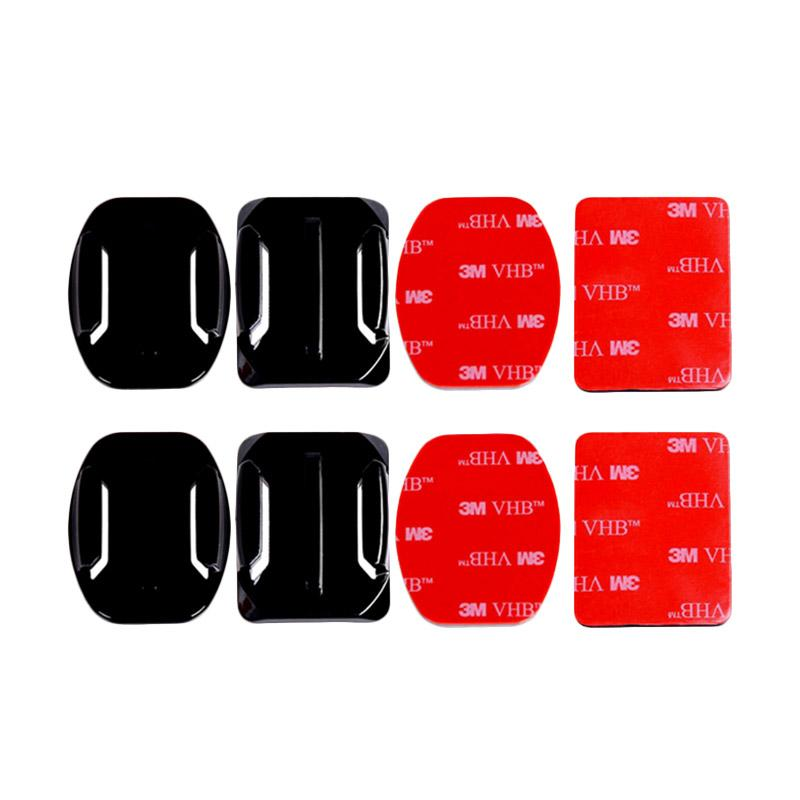 Action Cam Mounts with Adhesive Tapes for GoPro/Brica B-PRO/Xiaomi Yi [Flat 2 pcs/Curved 2 pcs]