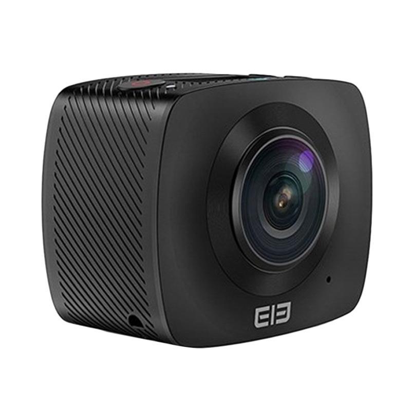 Elephone Elecam 360 Video Panorama Action Camera - Black + Free Tripod + TF Card