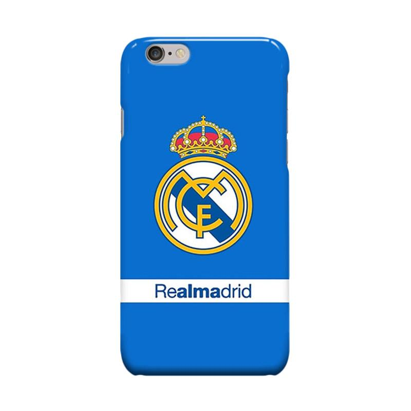 Indocustomcase Real Madrid Logo RMA06 Cover Casing for Apple iPhone 6 Plus or 6S Plus