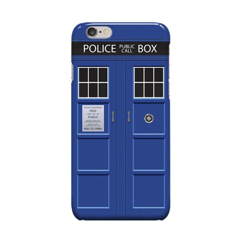 Indocustomcase Tardis Doctor Who Cover Casing for Apple iPhone 6 Plus or 6S Plus