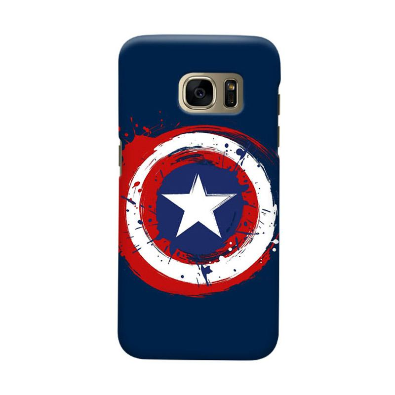 Indocustomcase Captain America Shield CAS05 Cover Casing for Samsung Galaxy S7 Edge