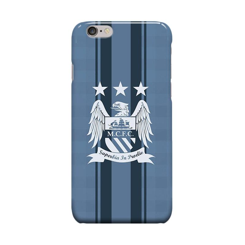 Indocustomcase Menchester City Logo Old Casing for Apple iPhone 6 Plus or 6S Plus