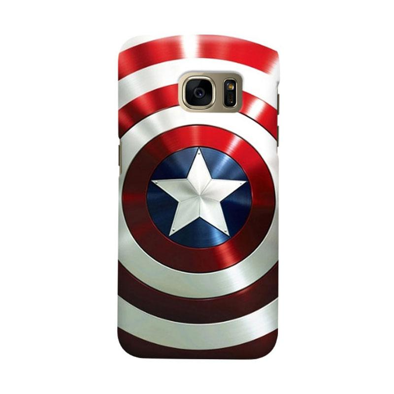 Indocustomcase Captain America Shield CAS06 Cover Casing for Samsung Galaxy S7 Edge