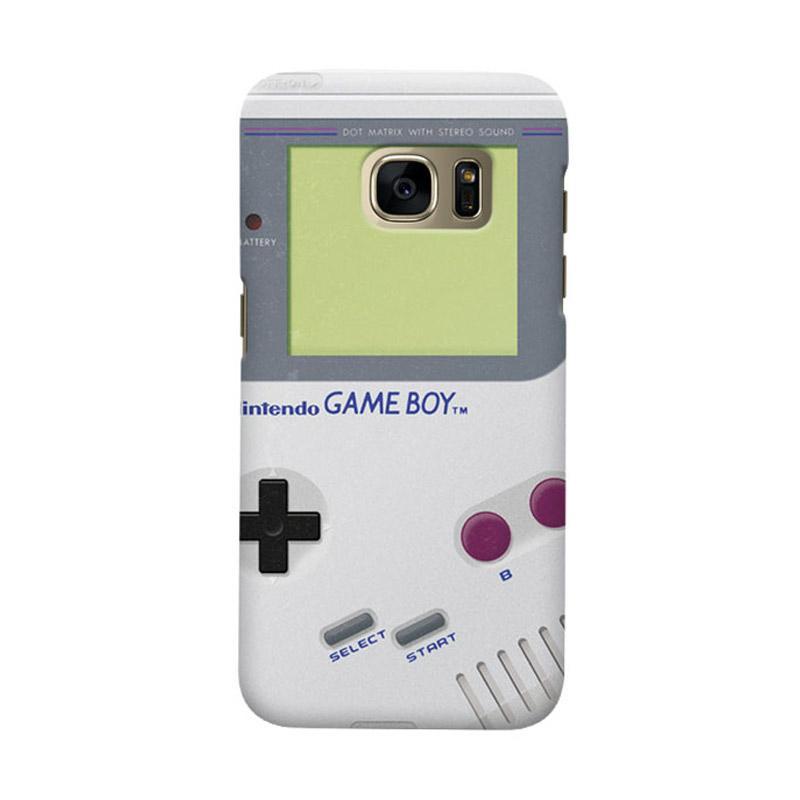 Indocustomcase White Nintendo Game Boy Cover Hardcase Casing for Samsung Galaxy S7 Edge