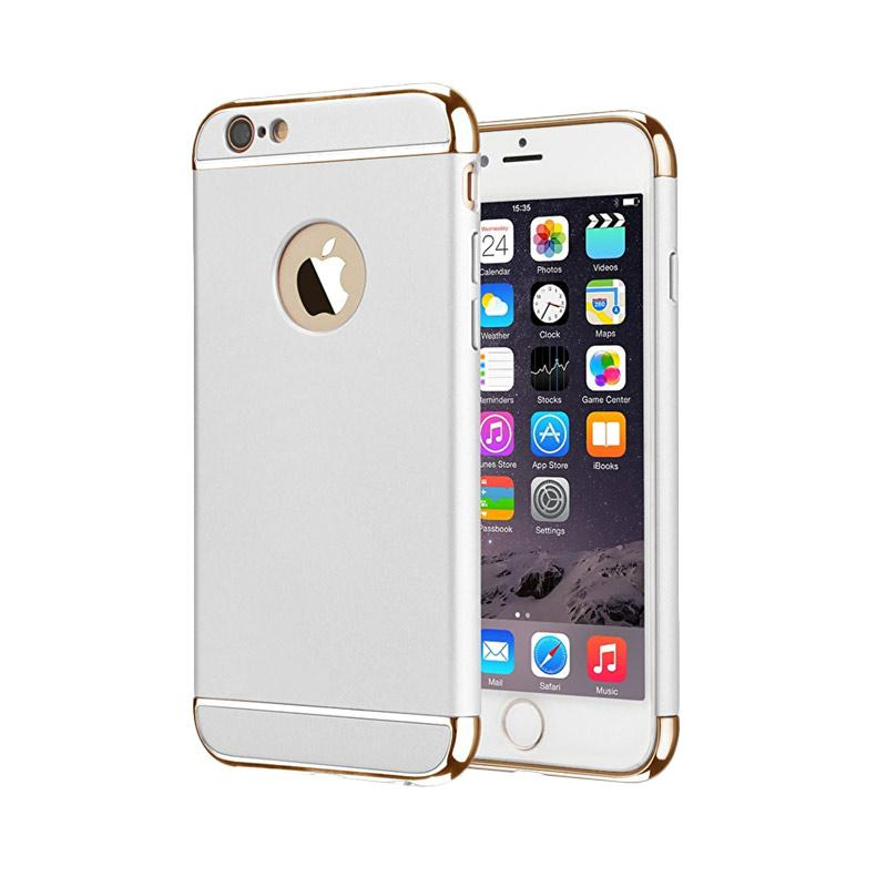 Fashion Case 3 in 1 Plated PC Frame Bumper with Frosted Hard Back Casing for iPhone 6 or iPhone 6S - Silver