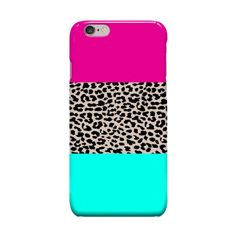 Indocustomcase Leopard National Flag Pink Casing for Apple iPhone 6 Plus or 6S Plus