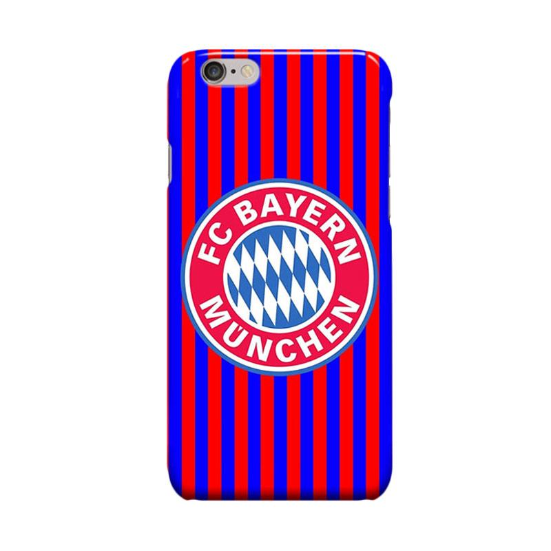 Indocustomcase Bayern Munchen FC Stripe Cover Casing for iPhone 6 Plus or 6S Plus