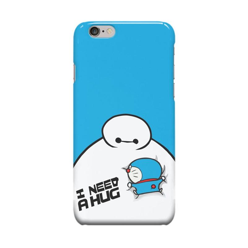 Indocustomcase Cartoon Doraemon Baymax Cover Casing for Apple iPhone 6 Plus or 6S Plus