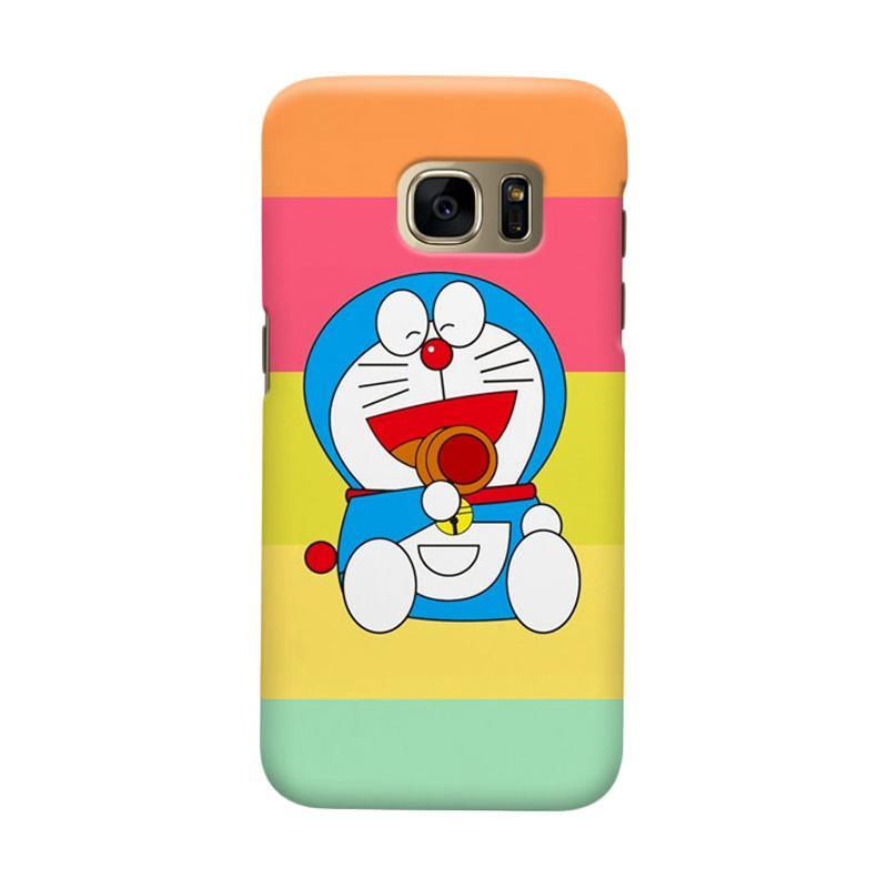 Indocustomcase Cartoon Doraemon Lough Cover Casing for Samsung Galaxy S6 Edge