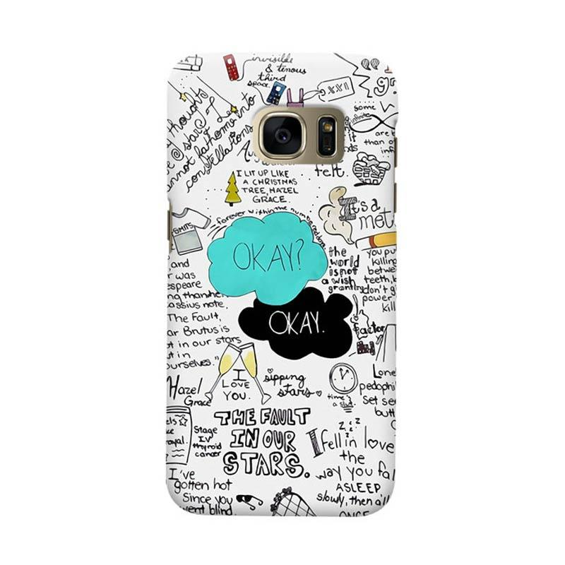 Indocustomcase The Fault In Our Star Okay Cover Casing for Samsung Galaxy S6