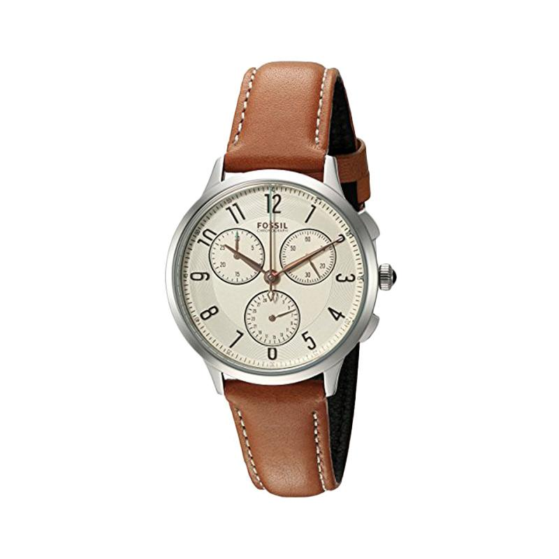 Fossil Ladies Edition D30H1310CH3014LSCKT Chronograph Leather Strap Multi Fungsi Jam Tangan Wanita