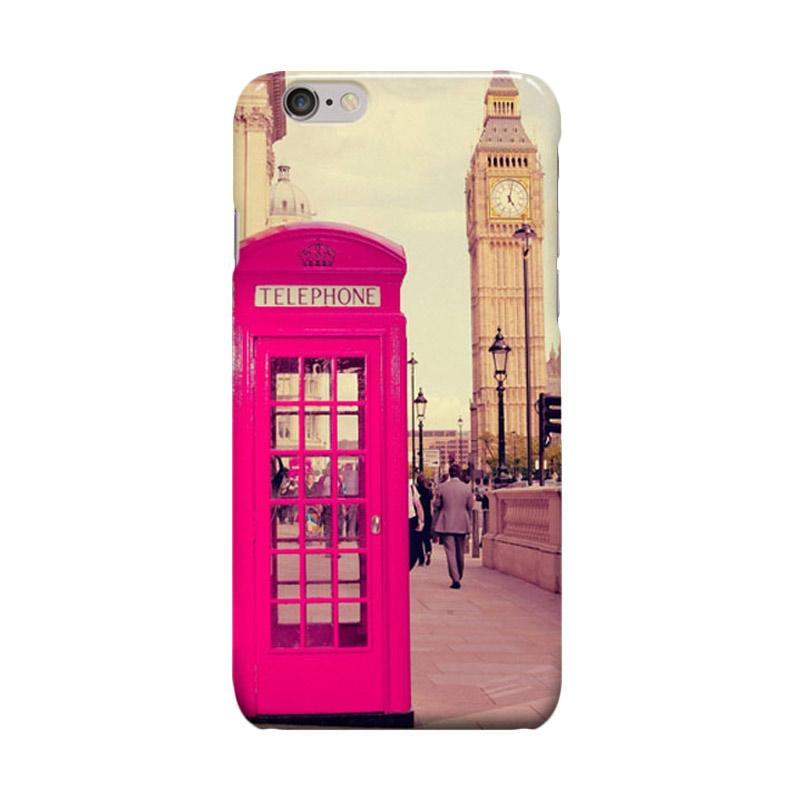 Indocustomcase London Red Telephone Box Cover Casing for iPhone 6 Plus or 6S Plus