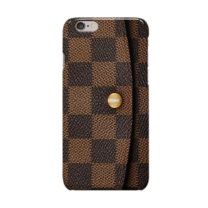 Indocustomcase Louis Vuitton Wallet Cover Casing for iPhone 6 Plus or 6S Plus
