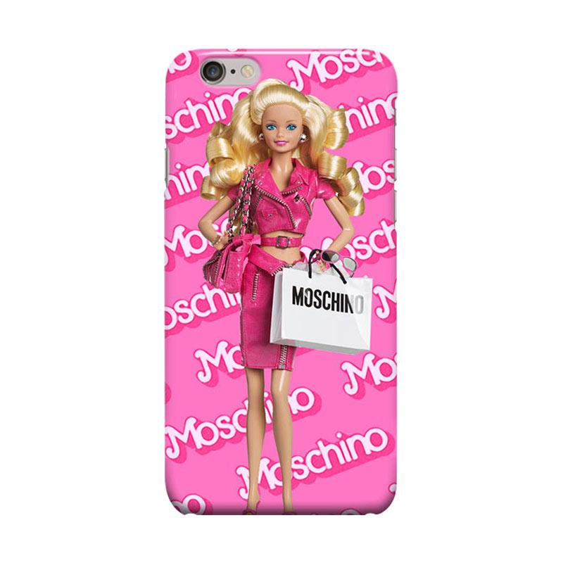 Indocustomcase Moschino Barbie Doll Cover Casing for Apple iPhone 6 Plus or 6S Plus