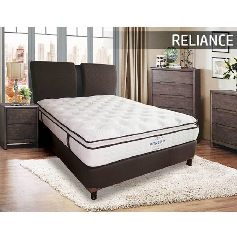 Porter Reliance Latex Semi Pillow Top Pocketed Spring Mattress Only Spring Bed Kasur