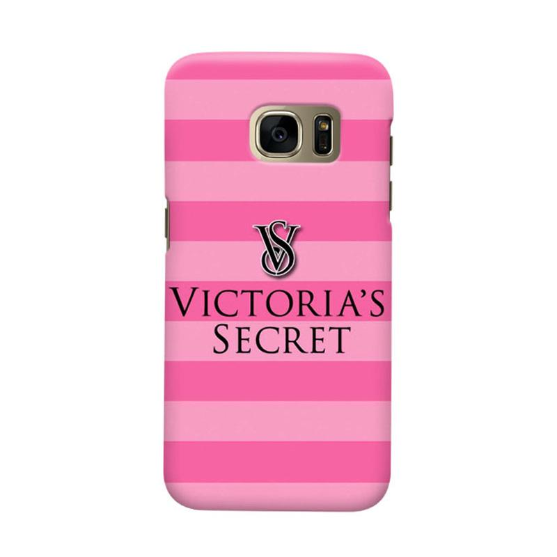Indocustomcase Victoreria Secret Logo Cover Hardcase Casing for Samsung Galaxy S7 Edge