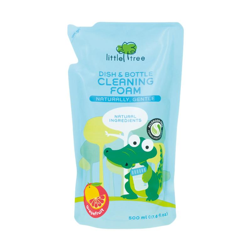Little Tree Dish Bottle Cleaning Foam Sabun Cuci Botol Bayi Reffil Grapefruit 500 mL