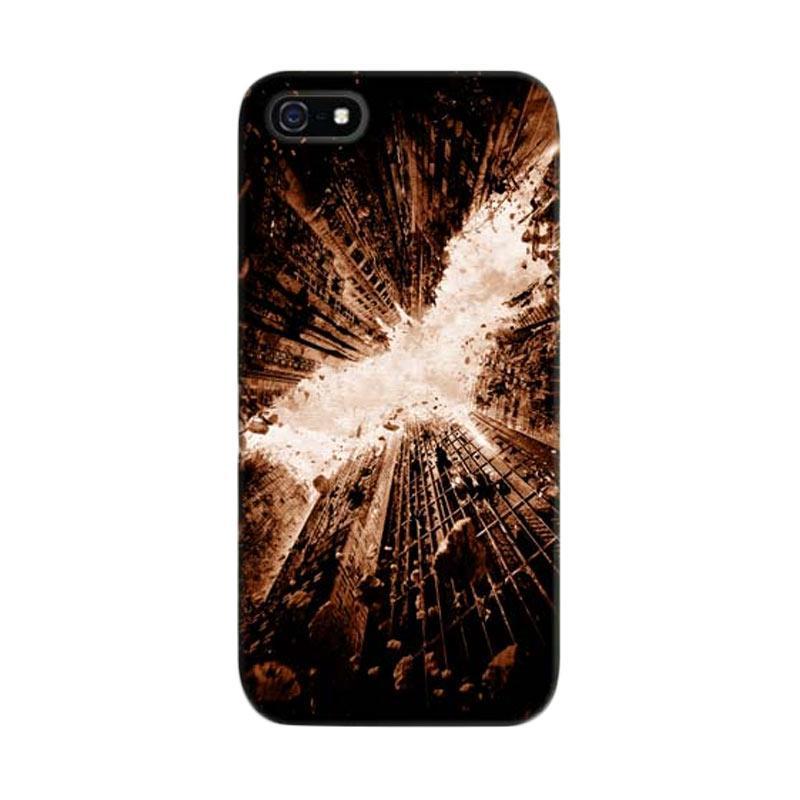 Indocustomcase Batman City Logo Custom Cover Hardcase Casing for Apple iPhone 5/5S/SE