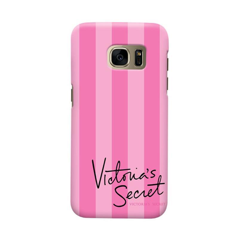 Indocustomcase Victoreria Secret Pink Cover Hardcase Casing for Samsung Galaxy S7 Edge