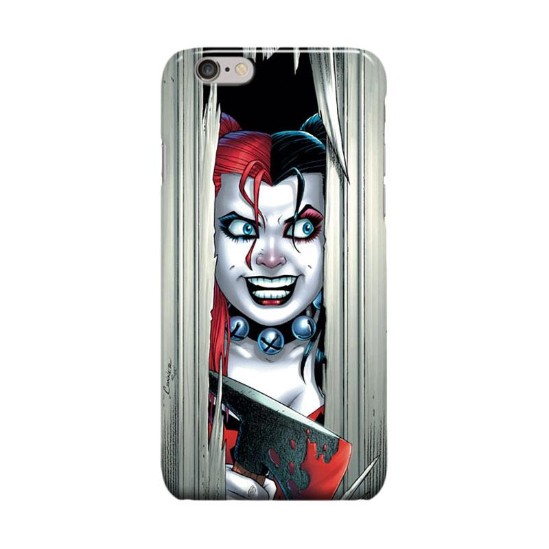 Indocustomcase Harley Quinn Cool DC Comic Cover Casing for iPhone 6 Plus or 6S Plus