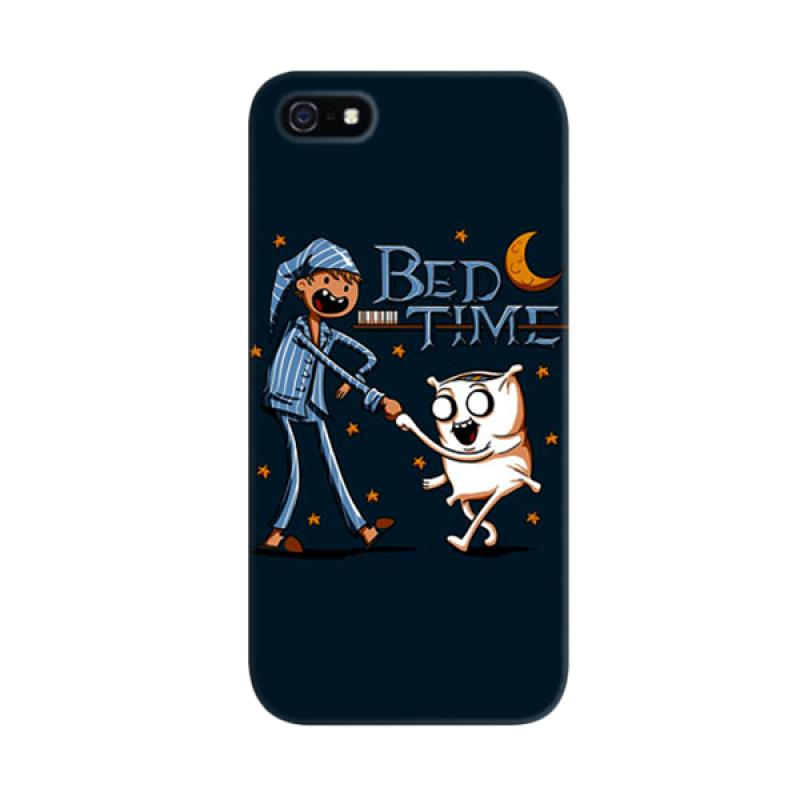 Indocustomcase Bed Time Monster Custom Cover Hardcase Casing for Apple iPhone 5/5S/SE