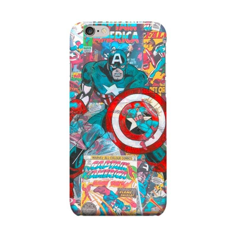 Indocustomcase Captain America Marvel Comic Casing for Apple iPhone 6 Plus or 6S Plus