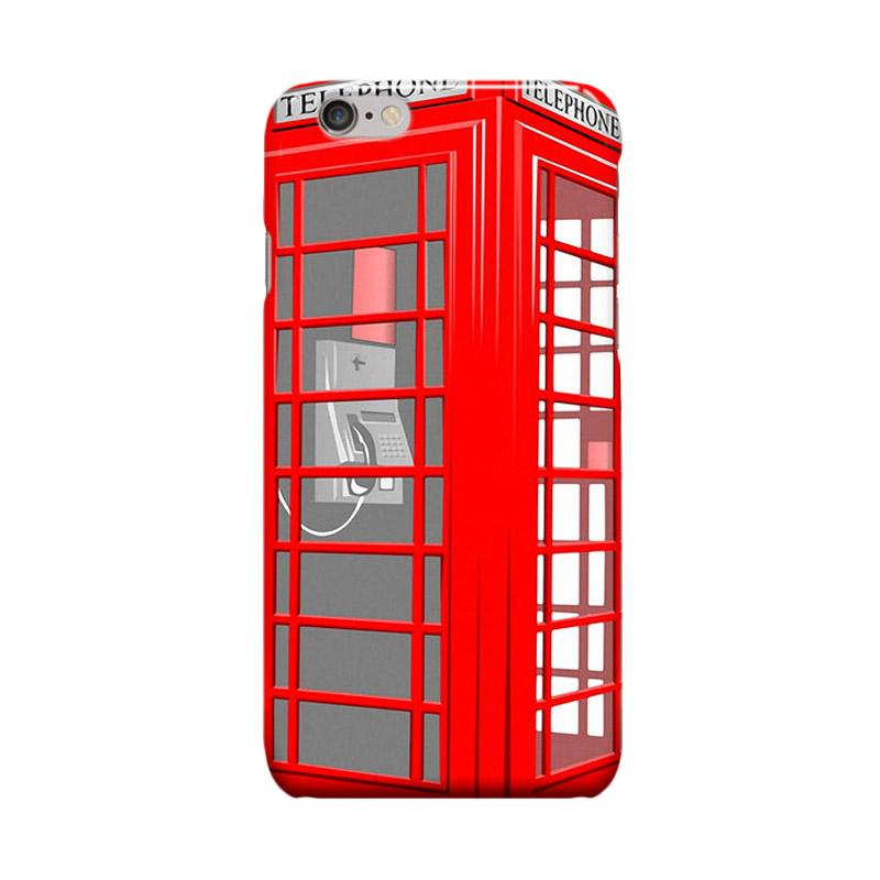 Indocustomcase Red Telephone Box SC01 Cover Casing for Apple iPhone 6 Plus or 6S Plus