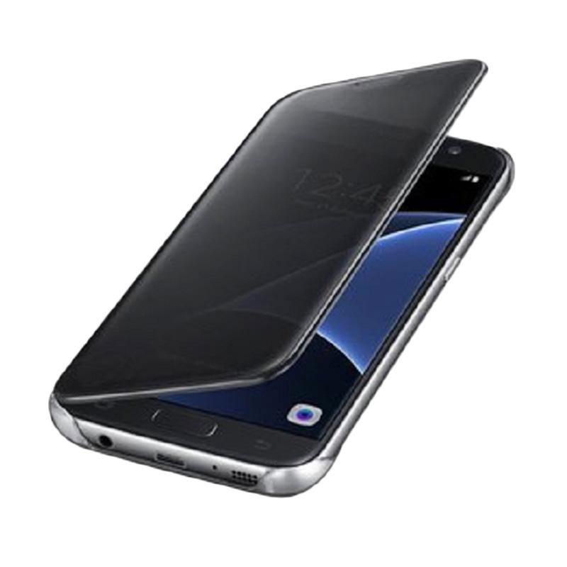 harga Case Mirror S View Transparan Flip Cover Casing for Samsung Galaxy Note 4 - Hitam Blibli.com