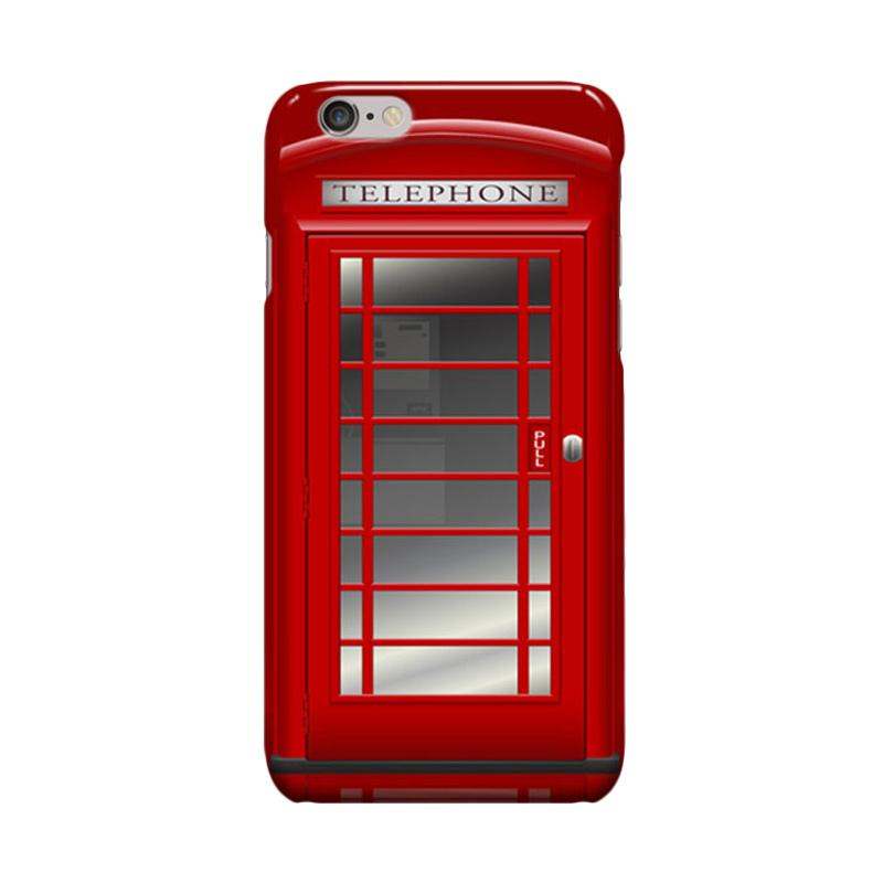 Indocustomcase Red Telephone Box SC02 Cover Casing for Apple iPhone 6 Plus or 6S Plus