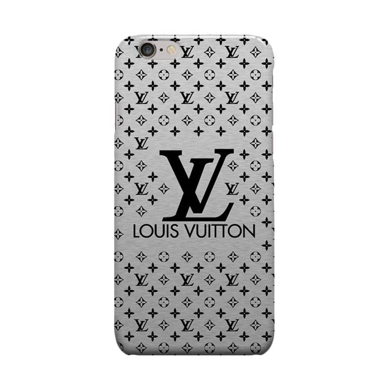 Indocustomcase Louis Vuitton Silver Cover Casing for iPhone 6 Plus or 6S Plus
